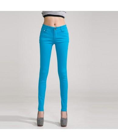 2019 Trousers Women Casual Pencil women Pants Slim Stretch White Jeans pantalones mujer - sky blue - 4B3814913269-4