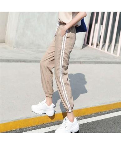 Plus Size 2018 Hot Autumn Sweatpants Women Casual Pants Loose Trousers For Women Black Striped Side Pants Female Sporting Pa...