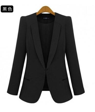 2019 New Plus Size Womens Business Suits Spring Autumn All-match women Blazers Jackets Short Slim long-sleeve Blazer Women S...