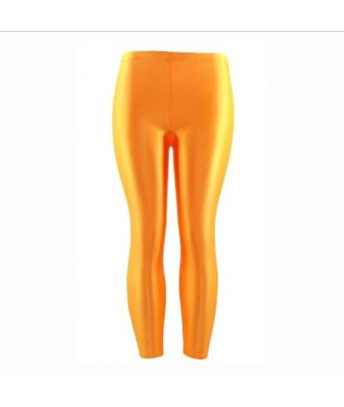 Women's Workout Leggings Casual Shiny Glossy Legging Female Fitness Leggins Plus Size S-XL Black Solid Fluorescent Leggings ...