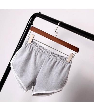 Summer Women Casual Shorts Cozy Multi Colors Breathable Elastic Waist Shorts Size S/M/L/XL/XXL/XXXL - Gray - 433095009255-3