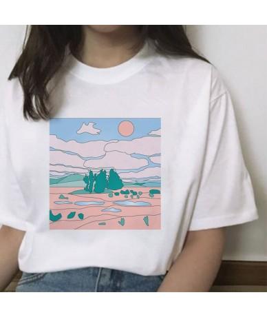 Japanese Style T-shirts for Women Sunset Over The Sea Harajuku White Tshirt Korean Tshirt Summer 2019 Tee Shirt Femme Vogue ...