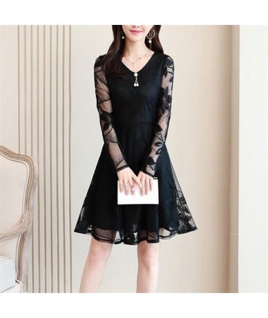 Elegant Cocktail Party Women Dress Short Sleeve Summer Dress 2019 Lace Vintage Short Dresses Ladies vestidos Large Size Dres...