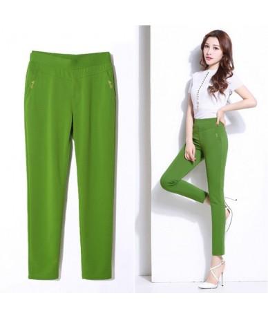 5XL Summer Pants Women Elastic Slim High Waist Pants Female Trousers Women Casual Plus Size Office Ladies Pants Streetwear Q...