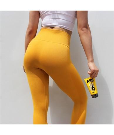 Women Seamless Leggings High Waisted Female Leggings Workout Leggings Warm Casual Pants Femme - Yellow - 4Q3020934024-2