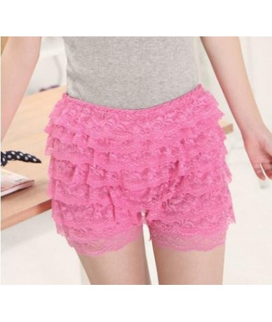 1Pcs Fashion Summer Women Casual Mid-waist Shorts Sexy Lace Sheer Floral Hollow Out Hot Girl Elastic 8 Floors Shorts 2019 - ...