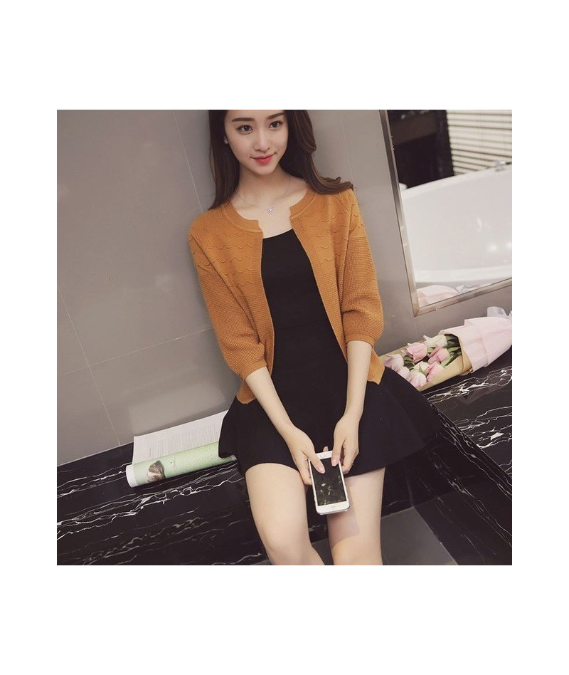 2016 New Korean Autumn Candy Colors Sweater Cardigans Women Slim Round Neck Short Paragraph Coats Feminino Capes And Ponchoe...