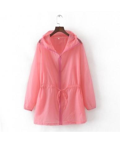 Summer Thin White Hooded Sunproof Cardigan Beach Blouse Sunscreen See Through Basic Jacket Coat Women Girl Bigger Oversize -...