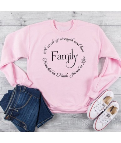 Founded In Faith Joined In Love Family Graphic Sweatshirt Women Christian Strength Hoodies Hope Aesthetic Jumpers Drop Shipp...