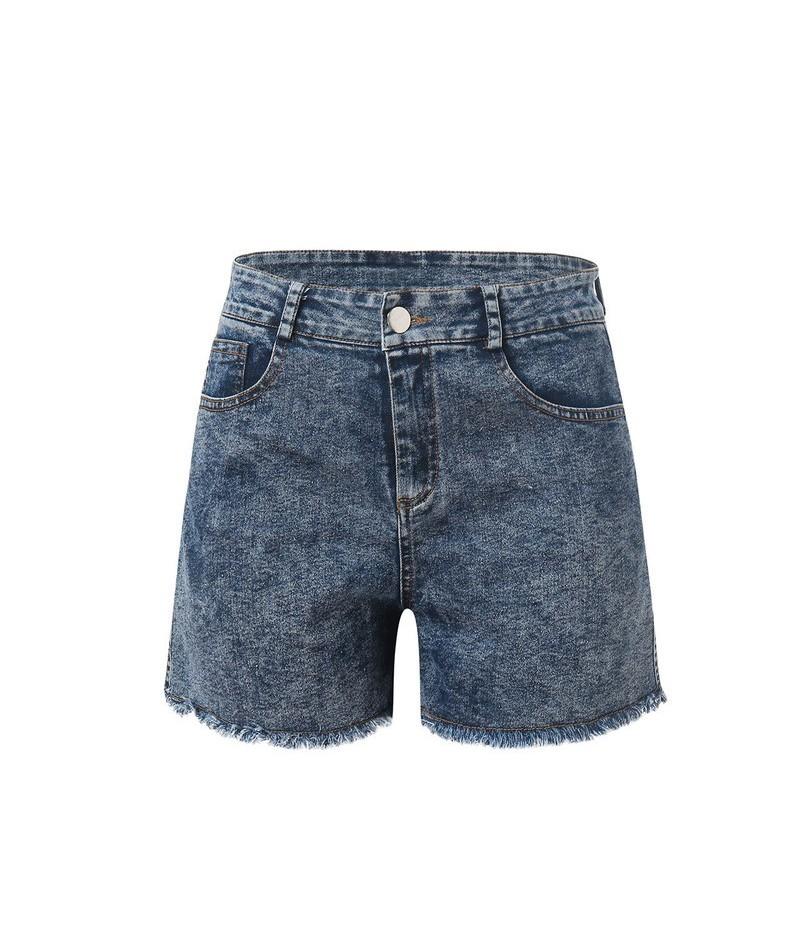 Women Jeans Pockets Tassel Zipper High Waist Skinny Jeans Shorts jeans femme vaqueros mujer джинсы женские большие размеры D...