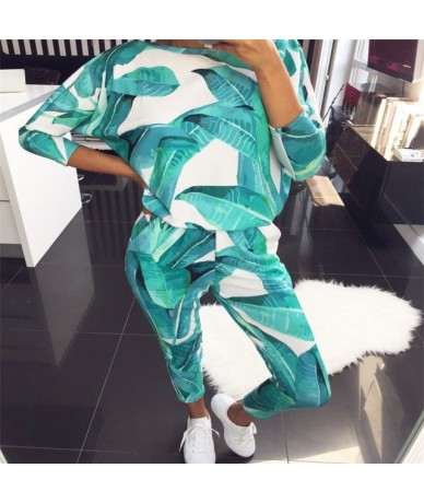 Women Casual 2 Pcs Flamingo print Tracksuits Sets Female Long Sleeve tops pants 2 Piece Outfits indoor wear pajama set suits...
