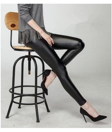 Faux Leather Leggings Navy Blue Sexy Women Leggins Thin Black Leggings Calzas Mujer Leggins Plus Size bottoms hot sale pants...