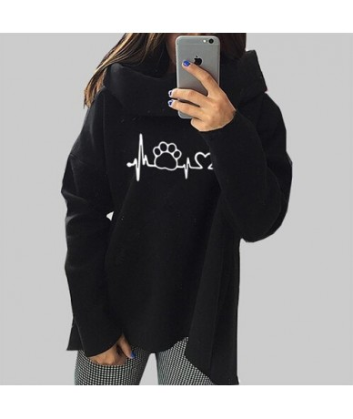 Dog Cat Cartoon Hoodies Sweatshirts 2018 Women Harajuku Winter Anime Hoodies Scarf Collar Long Sleeve Fashion Autumn Pullove...