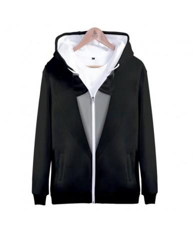 2019 Business Suit Women Zipper Hoodies Womens & Mens Hoodies Pullover Long Sleeves Harajuku 3D Print Hoody Tops hoodies wom...