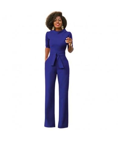 women bandage jumpsuit Elegant slim romper Work office business Trousers pants Female Overalls Women Office Overalls - Blue ...