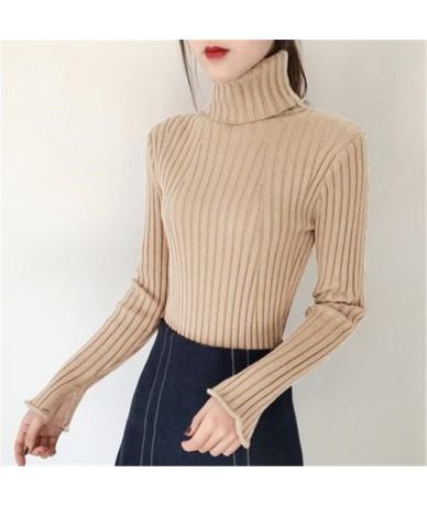 2018 Women's Fashion White Black Grey Cashmere Sweater Women Long Sleeve Autumn Winter Warm Turtleneck Pullover Knitted Jump...
