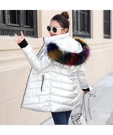 Fake fur collar downParka cotton jacket 2019 Winter Jacket Women thin Snow Wear Coat Lady Clothing Female Jackets Parkas Lon...