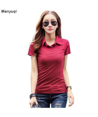 Plus Size 3XL Casual Female women polo shirt brand slim solid short sleeves shirts - Gray - 403926375003-5
