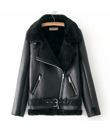 Warm women's winter motorcycle velvet jacket female short lapels fur thick Korean version plus velvet jacket 2018 bomber jac...