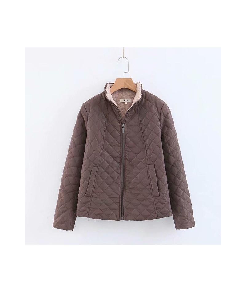 Spring 2019 New Parkas Basic Jackets Female Women Winter Plus Velvet Coats Cotton Winter Jacket Womens Outwear Coat Solid Co...