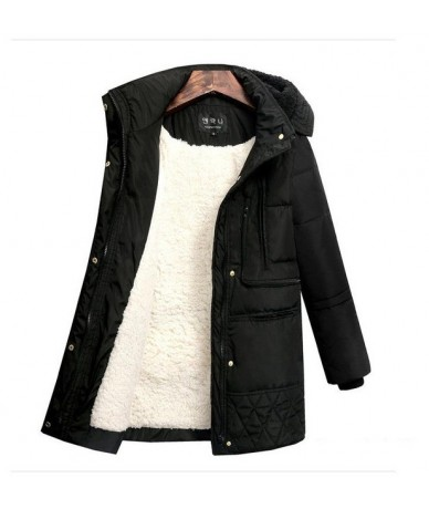2019 Winter Women's Jackets Cotton Coat Padded Long Slim Hooded Parkas Female Plus Size Warm Wool Jacket Outwear Clothing - ...