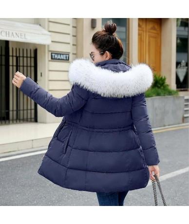 women clothing winter parkas woman 2019 plus sizes long winter jacket women fur with hood coat quilted female warm coat Cott...
