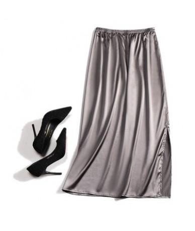 Silk 100 Real Pure Mulberry satin sexy summer Women Silk long skirt skirts womens jupe femme maxi skirt black pencil skirt -...