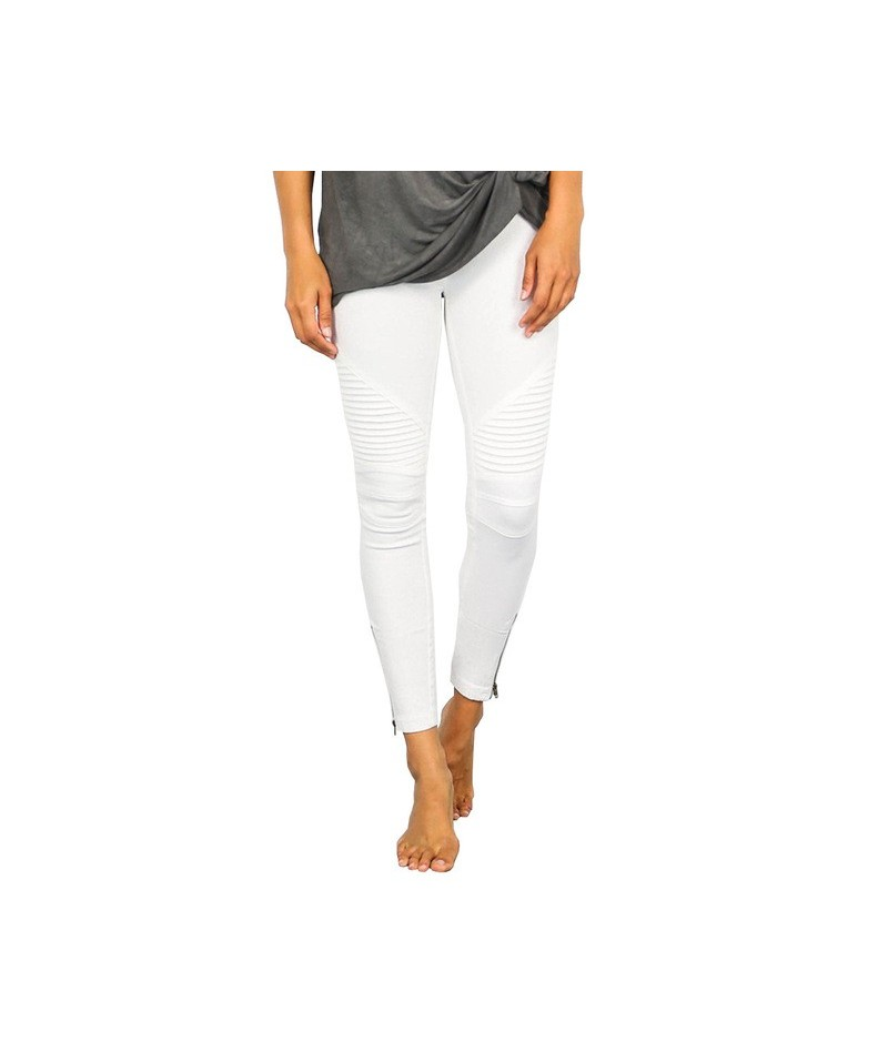 Pleated Skinny Jeans Woman Fashion Slim Strong Elastic Women's Jeans Pants Ladies All Matches White Jeans Trousers For Women...