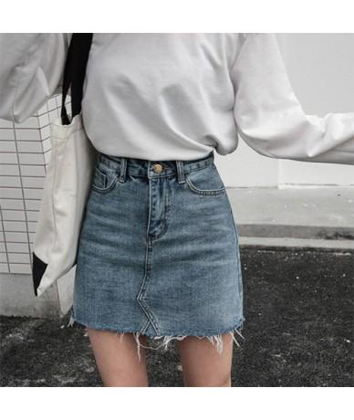 Plus Size 5XL Denim Skirt Women Fashion 2019 Summer Sexy Pencil Mini Short Skirt Female High Waist Jeans Skirt School Sun - ...