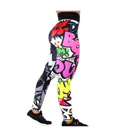 Women Printed Leggings Fitness Slim Workout Leggings Trousers For Women Fashion High Waist Leggings Clothing Mujer - A - 4B3...