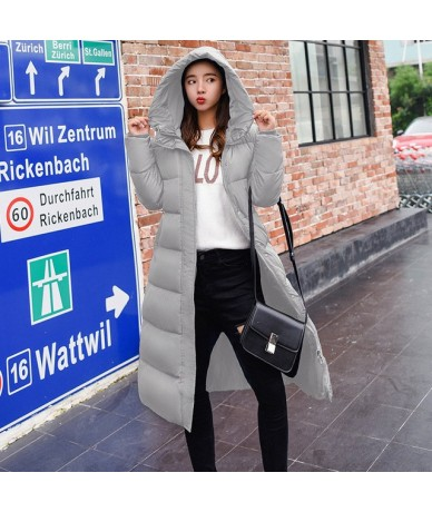 Winter Self-Cultivation Hooded Wadded Cotton Jacket Printing Long Over The Knee Thick Cotton Women Tide Warm Coat MZ2972 - G...
