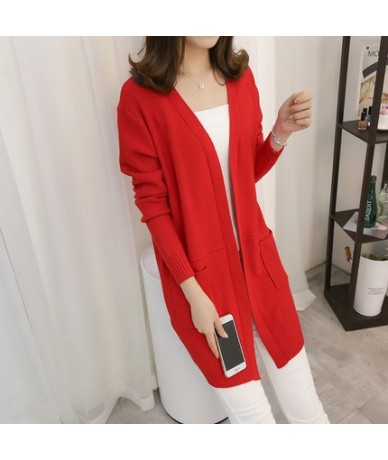 2019 New Women Winter Long Cardigan Sweaters Female Loose Oversized Jackets Knitted Jumper Autumn Sweater Cardigans For Girl...