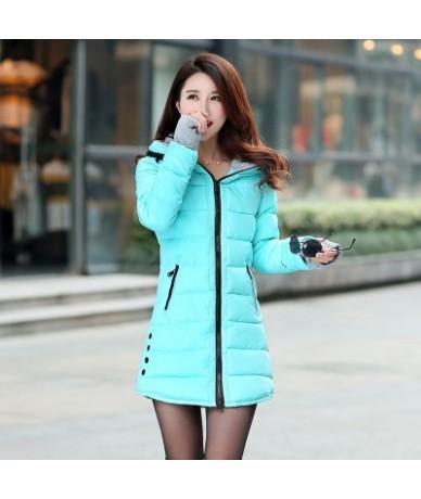 Perempuan Gumpalan dingin menengah-panjang turun kapas ditambah ukuran jacket Wanita wanita ramping jaket Dan mantel LQ051 -...