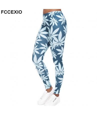 Fashion Leggings Mint Weed Printing Fitness Legging High Stretch Leggins High Waist Slim Sexy Legins Trouser Women Pants - 4...