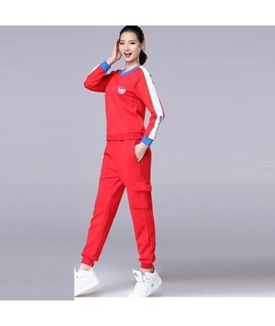 Cotton Tracksuit Women Sportwear 2019 New Spring Fashion Elegant 2 Piece Set Women Pants Suits Sets Plus Size 3XL 4XL 5XL - ...