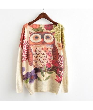 Harajuku Sweater Woman girls student knitting Cartoon rose Flowers cat Animal fruit printing Sweater - As picture - 43394232...