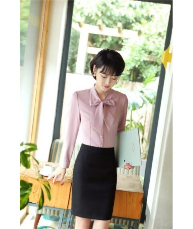 2 Piece Tops And Skirt Spring Fall OL Styles Suits For Business Women Blouses Sets Office Ladies Work Wear Uniforms Elegant ...
