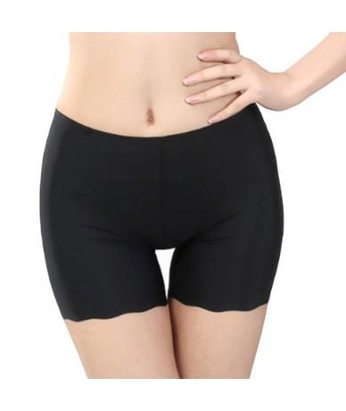 Wiman Pants Women GirlsLeggins Female Pants Summer Ice Silk Mid Waist Sexy Solid Breathable Short Ladies Boxer - Black - 4L3...