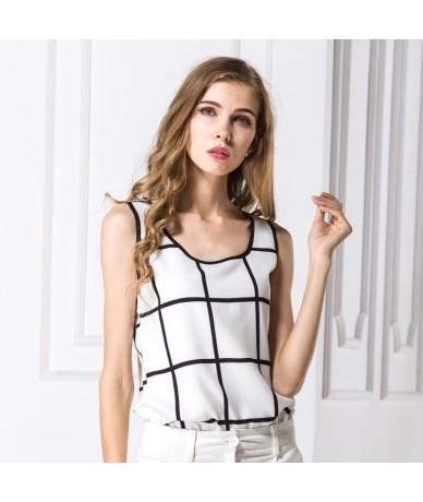shirt for fashion women street style girl summer shirt sexy vest plaid design sleeveless summer girl fashion clothing dropsh...