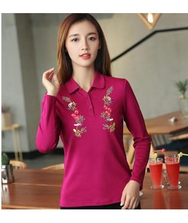 2018 Free send Lapel polo shirt long sleeve shirt new autumn coat loose render unlined upper garment of big yards - Purple -...