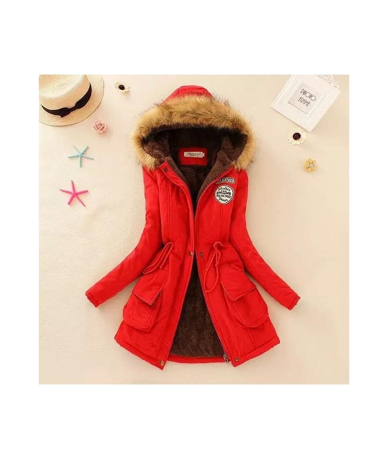 Winter Women Coat 2016 Parka Casual Outwear Military Hooded Coat Woman Clothes Fur Coats manteau femme Winter Jacket Women C...