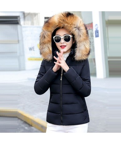 Winter Jacket Women Plus Size 5XL Women Parkas Thicken Outerwear Hooded Winter Coat Womens Down Jacket Female Fake Fur Colla...