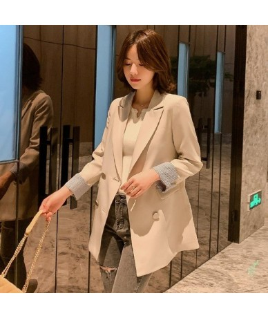 Women Blazers And Jackets Office Lady Spring Autumn Solid Double Breasted 2019 Casual Jackets Elegant Work Blazers Feminino ...