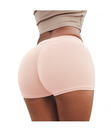 Solid Women Shorts Push Up High Waist Elastic Fitness Short Pants Tight Slim Sports Gym Workout Shorts For Women Girls - Pin...