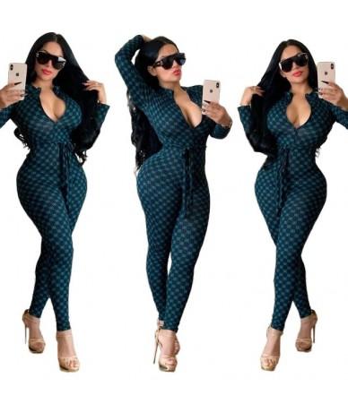 Summer Autumn Women Jumpsuit Bodycon Playsuit Bodysuit Overalls Rompers Plus Size GG Print Casual Jumpsuits - 3 - 5411122536...