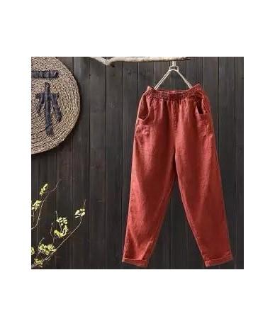 Women's Loose Pants Trousers Women High Waist Black Pants Cotton Female Casual Ankle Length Fashion Autumn Long Office Pants...