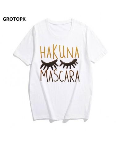 Hakuna Matata Printed T-shirts for Women Mascara Kawaii Harajuku White Tshirt Streetwear Woman Tshirt Top Vogue Funny T-shir...