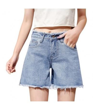 2019 Summer High Waist Denim Shorts Women Fashion Tassel Pockets Wide Leg Shorts Female Solid Color Casual Short Jeans For W...