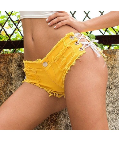 Women jeans rasgados mujer Sexy Bandage Button Cut Off Low Waist Denim Jeans Shorts Mini Hot vaquero mujer FA - 4 - 5I111184...