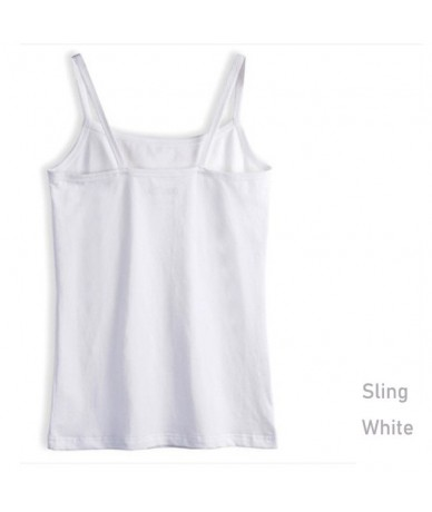 Summer Style Soft Cotton Women Tank Top Fitness Sexy Sleeveless Sport T Shirt Elegant Lady Bottoming Tees Streetwear White T...